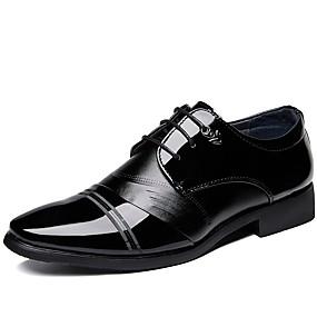 baratos Oxfords Masculinos-Homens Sapatos formais Couro Ecológico Primavera Verão Negócio / Clássico Oxfords Respirável Preto