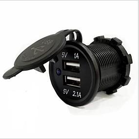 abordables Cargadores para Coche-Cargador para automóvil lossmann 2 puertos usb para 5 v de carga rápida resistente al agua