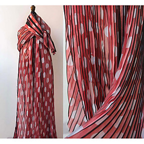 cheap Crafts & Sewing-Chiffon Geometric Pattern 145 cm width fabric for Special occasions sold by the 0.5m