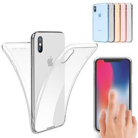 voordelige Apple-accessoires-hoesje Voor Apple iPhone XS / iPhone XS Max Schokbestendig / Ultradun / Transparant Volledig hoesje Effen Zacht TPU voor iPhone XS / iPhone XR / iPhone XS Max