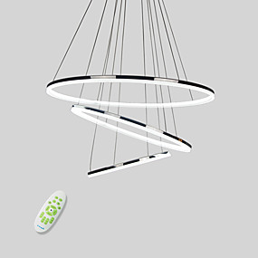 cheap Pendant Lights-Circular Pendant Light Downlight Electroplated Metal Acrylic Mini Style, LED 110-120V / 220-240V Warm White / Cold White / Dimmable With Remote Control LED Light Source Included / LED Integrated