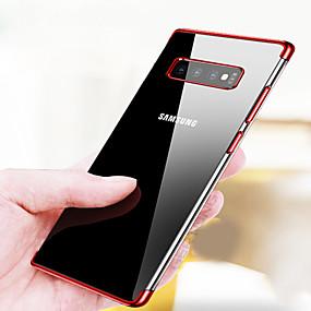 ieftine Carcase Mobil-Maska Pentru Samsung Galaxy Galaxy S10 / Galaxy S10 Plus Placare / Ultra subțire / Transparent Capac Spate Mată Moale TPU pentru S9 / S9 Plus / S8 Plus