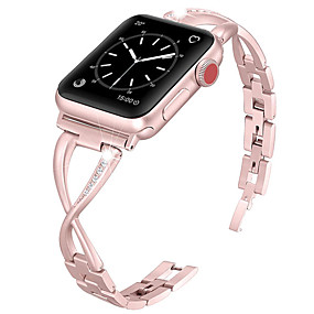 cheap Smartwatch Accessories-Watch Band for Apple Watch Series 4/3/2/1 Apple Jewelry Design Metal / Stainless Steel Wrist Strap