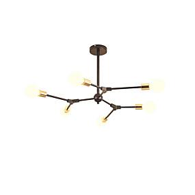 cheap Home Improvement-6-Light Sputnik Chandelier Ambient Light Painted Finishes Metal New Design 110-120V / 220-240V