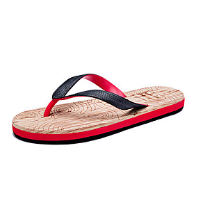 cheap Men's Shoes-Men's Comfort Shoes Rubber Summer Slippers & Flip-Flops Black and White / Black / Red / Black / Blue