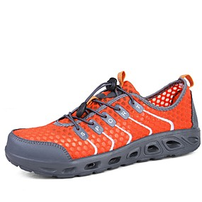cheap Running Shoes-Men's Comfort Shoes Elastic Fabric Summer Sporty / Casual Athletic Shoes Running Shoes / Tennis Shoes Breathable Booties / Ankle Boots Orange / Dark Grey