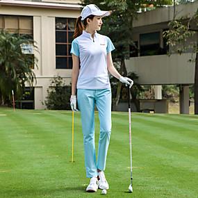 f5059539f0ad TTYGJ Dam Kortärmad Golf T-shirt Lättvikt Andningsfunktion Snabb tork  sporter Tennis Mörkblå Blå Rosa Fritids- Utomhus / Microelastisk