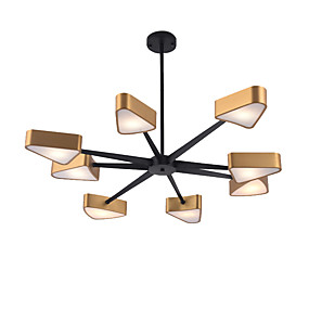 cheap Chandeliers-QINGMING® 8-Light Mini Chandelier Ambient Light Electroplated Painted Finishes Metal Mini Style 110-120V / 220-240V