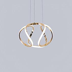 abordables Plafonniers-Spoutnik / Lanterne / Nouveauté Lampe suspendue Lumière d'ambiance Plaqué Aluminium Style mini, Créatif, Design nouveau 110-120V / 220-240V Blanc Crème / Blanc Neige