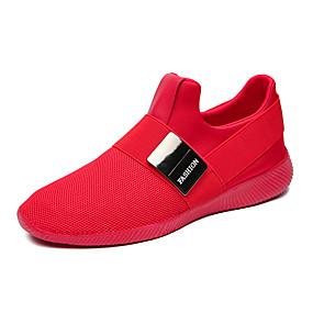 baratos Sapatilhas e Mocassins Masculinos-Homens Sapatos Confortáveis Com Transparência Verão Casual Mocassins e Slip-Ons Caminhada Respirável Preto / Cinzento / Vermelho