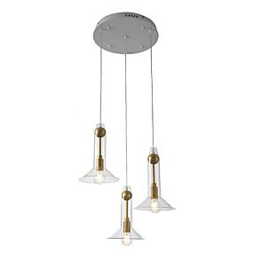 billige Hengelamper-ZHISHU 3-Light Sputnik / Industriell / Originale Anheng Lys Nedlys galvanisert Metall Glass Nytt Design, WIFI-kontroll 110-120V / 220-240V Varm Hvit / Hvit / Wi-Fi Smart