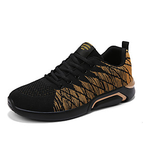 cheap Running Shoes-Men's Fashion Boots Tissage Volant Spring & Summer Casual / Preppy Athletic Shoes Running Shoes / Walking Shoes Breathable Booties / Ankle Boots Black / Gold / Black and White / Black / Red