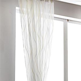 billige Gjennomsiktige gardiner-Moderne Ren Et panel Ren Stue   Curtains / Mønstret