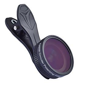 رخيصةأون عدسات و اكسسوارات -عدسة الهاتف المحمول عدسة مع مصفاة / عدسة زاوية كبيرة زجاج / سبيكة ألومنيوم 1X 37 mm 0.16 m 112 ° تصميم جديد
