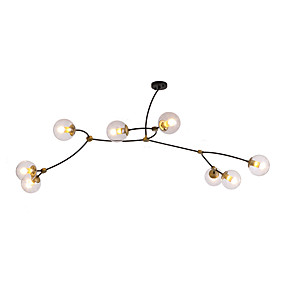 cheap Chandeliers-ZHISHU 8-Light Sputnik / Industrial / Novelty Chandelier Downlight Electroplated Metal Glass New Design, WIFI Control 110-120V / 220-240V Warm White / White / Wi-Fi Smart