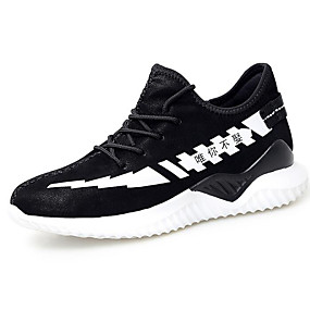 c8bd734ef69829 Men s Comfort Shoes Microfiber Fall   Winter Athletic Shoes Running Shoes  Black and White   Black   Red
