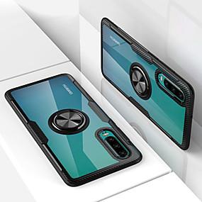 voordelige Telefoons en accessoires-hoesje Voor Huawei Huawei P30 / Huawei P30 Pro Ringhouder Achterkant Effen Hard PC voor Huawei P20 / Huawei P20 Pro / Huawei P20 lite