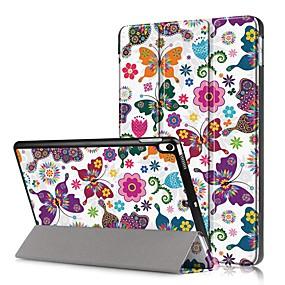 billiga iPad fodral-fodral Till Apple iPad New Air (2019) / iPad Pro 10.5 Stötsäker / Lucka / Mönster Fodral Fjäril Hårt PU läder för iPad Mini 5 / iPad New Air (2019)