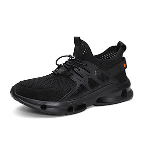 cheap Running Shoes-Men's Comfort Shoes Knit Fall / Spring & Summer Sporty / Preppy Athletic Shoes Running Shoes Non-slipping Color Block White / Black / Gray