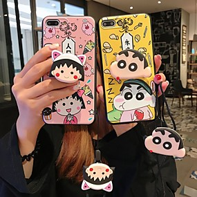 cheap iPhone Cases-Case For Apple iPhone XS Max / iPhone 6 with Stand Back Cover Cartoon Soft Silicone for iPhone XS / iPhone XR / iPhone XS Max