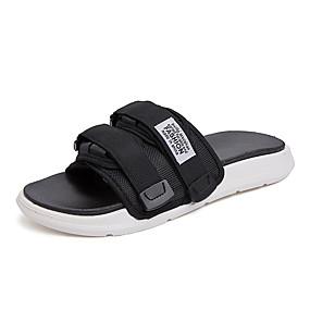 baratos Sandálias e Chinelos Masculinos-Homens Sapatos Confortáveis Com Transparência Verão Casual Chinelos e flip-flops Caminhada Respirável Botas Cano Médio Branco / Preto