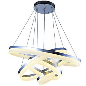 abordables Plafonniers-VALLKIN 4 lumières Cercle Anneau / Géométrique / Nouveauté Lampe suspendue Lumière d'ambiance Finitions Peintes Métal Acrylique Créatif, Ajustable, Intensité Réglable 110-120V / 220-240V Dimmable