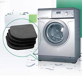 billige Matter og tepper-vaskemaskin anti-vibrasjon pad matte glidende støtdempere matter kjøleskap 4pcs / sett kjøkken bad tilbehør badematte