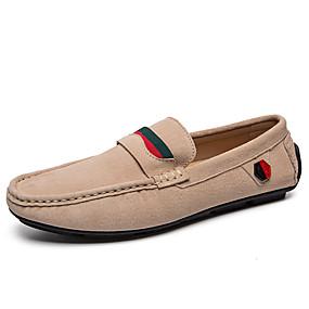 baratos Sapatos Náuticos Masculinos-Homens Mocassim Camurça Inverno / Primavera Verão Clássico / Casual Sapatos de Barco Não escorregar Preto / Marron / Bege