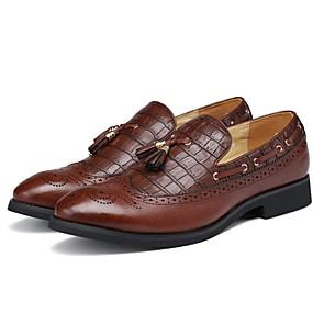 baratos Sapatos Náuticos Masculinos-Homens Sapatos de vestir Sintéticos Outono / Primavera Verão Negócio / Casual Sapatos de Barco Não escorregar Preto / Marron / Vinho