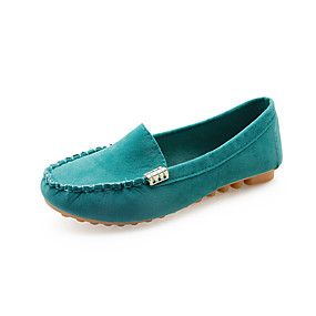 voordelige Damesinstappers & loafers-Dames Loafers & Slip-Ons Platte hak Ronde Teen Microvezel minimalisme Wandelen Lente & Herfst Zwart / Fuchsia / Geel
