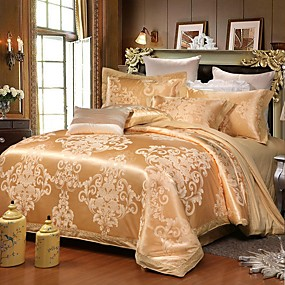 cheap Trend Duvet Covers-Luxurious Duvet Cover Sets 4 Piece /400 Thread Count / Egyptian Cotton / Ultra Soft / Emperior Pattern Design Jacquard Bedding Set / Perfectly Breathable / Easy Care for All KInds of Households