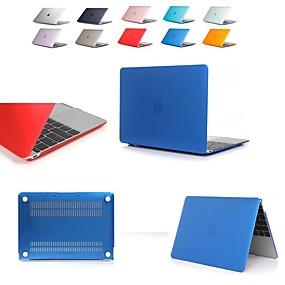 levne MacBook příslušenství-macbook case transparent / tuhý barevný pvc (polyvinylchlorid) pro macbook air 11 / air 13 / air 13 2018 / pro 13 / pro 15 / pro 13retina / pro 15 retina / macbook 12