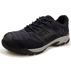 baratos Tênis Masculino-Homens Sapatos de Condução Sintéticos Outono / Primavera Verão Clássico / Casual Tênis Aventura / Caminhada Respirável Preto / Vermelho / Azul