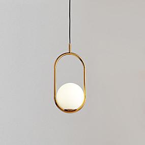 billige Hengelamper-Sirkelformet Anheng Lys Omgivelseslys Gylden Metall Glass Justerbar 110-120V / 220-240V Varm Hvit / Kald Hvit