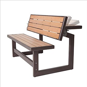 cheap Furniture-metal and wood park style bench for outdoor patio lawn garden