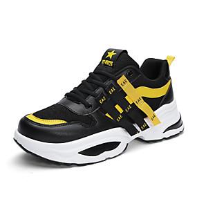 54bc31e05 رجالي حذاء سنيكرز Clunky شبكة الصيف رياضي / كاجوال أحذية رياضية الركض /  المشي متنفس أبيض / أسود