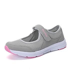 voordelige Damesschoenen met platte hak-Dames Polyester Lente Platte schoenen Platte hak Ronde Teen Donker Grijs / Licht Grijs / Rood