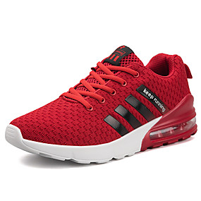 cheap Running Shoes-Men's Comfort Shoes Tissage Volant Spring & Summer Sporty / Preppy Athletic Shoes Running Shoes / Walking Shoes Breathable White / Black / Red