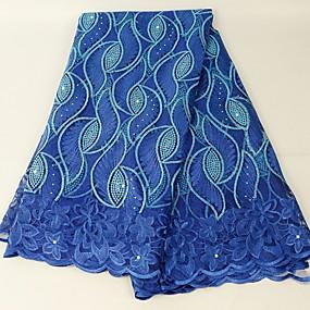 ราคาถูก Crafts&Sewing-ลูกไม้แอฟริกัน สไตล์พื้นบ้าน Pattern 130 cm ความกว้าง ผ้า สำหรับ โอกาสพิเศษ ขาย โดย 5Yard