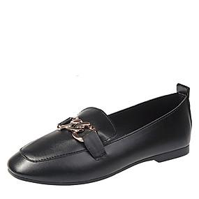 voordelige Damesschoenen met platte hak-Dames Rubber Lente / Herfst Platte schoenen Platte hak Zwart / Beige