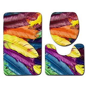 voordelige Matten & Tapijten-1 set Klassiek Badmatten 100g / m² Polyester Gebreid en Gestrekt Geometrisch / Nieuwigheid Anti-slip / Nieuw Design