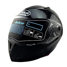 billige Nyankomne i august-Heldekkende Voksen Unisex Motorsykkel hjelm Hjelm Med Briller / Snu opp