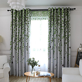 cheap Free Shipping-One Panel Children's Room Living Room Bedroom Dining Room Embroidered Curtain