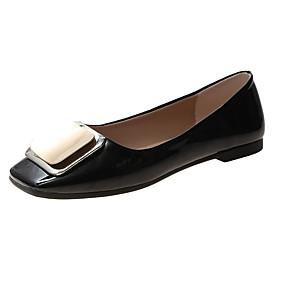 voordelige Damesschoenen met platte hak-Dames Platte schoenen Platte hak Strik PU Informeel Zomer Zwart / Beige / Rood
