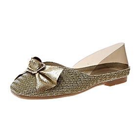 voordelige Damesschoenen met platte hak-Dames Platte schoenen Platte hak Polyester Lente & Herfst / Zomer Zwart / Lichtbruin