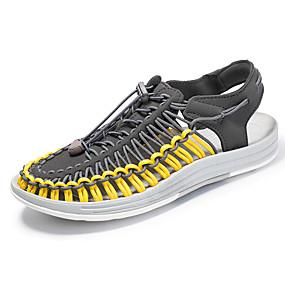 baratos Sandálias Masculinas-Homens Sapatos Confortáveis Com Transparência Verão Esportivo Sandálias Água Respirável Estampa Colorida Preto / Branco e Preto / Branco / Atlético