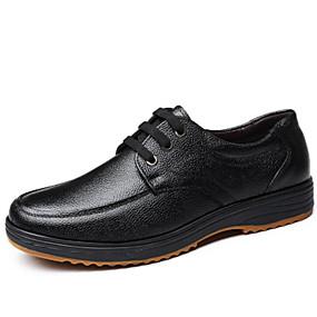 baratos Oxfords Masculinos-Homens Sapatos Confortáveis Couro Outono & inverno Oxfords Preto