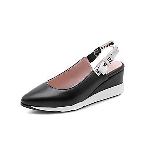 voordelige Damesinstappers & loafers-Dames Loafers & Slip-Ons Sleehak Gepuntte Teen PU Klassiek / minimalisme Herfst / Lente zomer Zwart / Rood