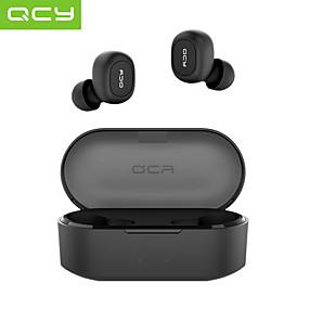 billige Hodetelefoner og hodetelefoner-qcy t2c qs2 tws ekte trådløse hodetelefoner trådløse ørepropper sportshodesett bluetooth 5.0