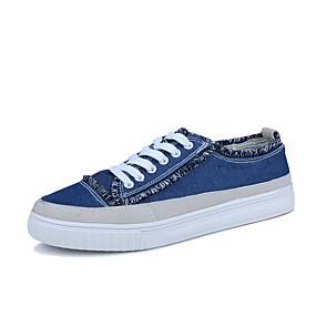 baratos Tênis Masculino-Homens Sapatos Confortáveis Lona / Jeans Verão Casual Tênis Não escorregar Preto / Verde / Azul